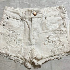 American Eagle Hi-Waisted Distressed Shorts